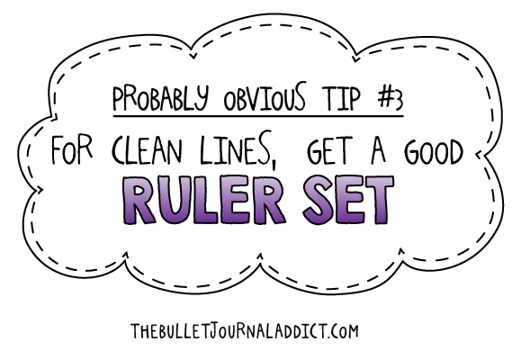 The Bullet Journal Addict Probably Obvious Tip #3